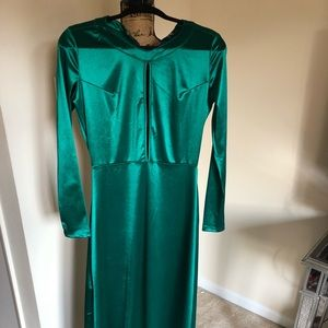 Green evening gown size 10